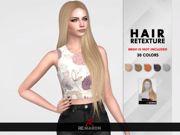 The Sims Resource: Maleficent Hair Retextured by remaron for Sims 4