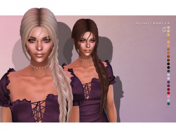 The Sims Resource: Zoe Hair by Nightcrawler for Sims 4