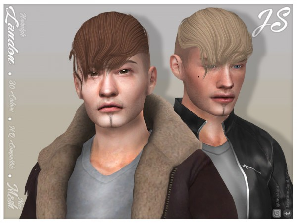 The Sims Resource: Landon Hair by JavaSims for Sims 4