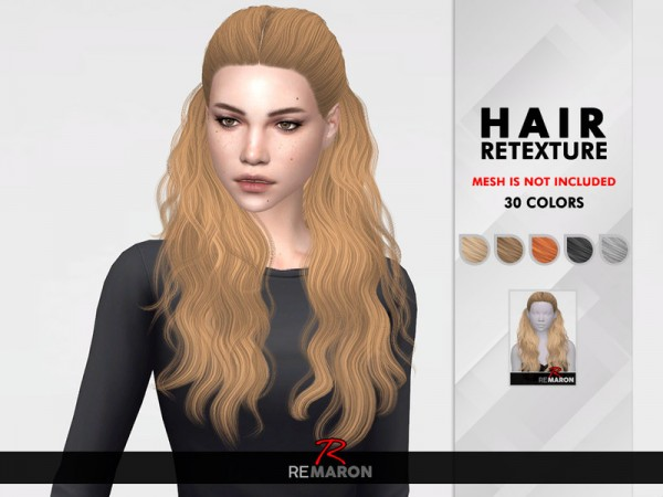 The Sims Resource: 178 Hair Retextured by remaron for Sims 4