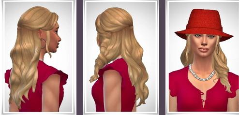 Birksches sims blog: Liana Hair for Sims 4