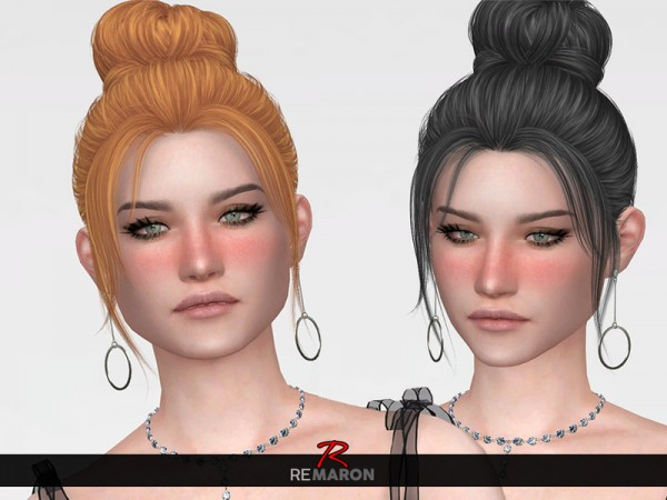 The Sims Resource: Impulse Hair Retextured by remaron for Sims 4