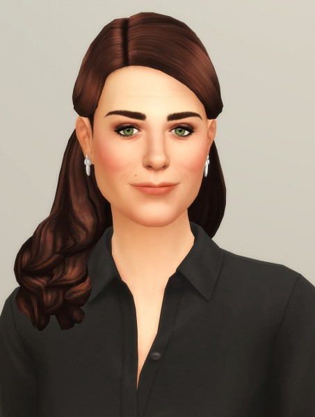 Rusty Nail: Catherine of England Hair for Sims 4