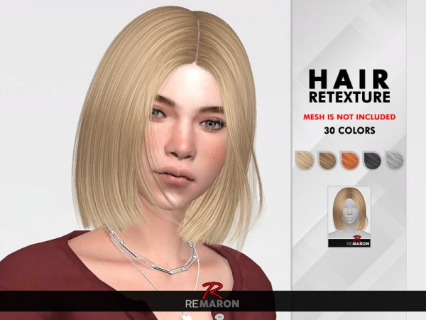 The Sims Resource: Ida Hair Retextured by remaron for Sims 4