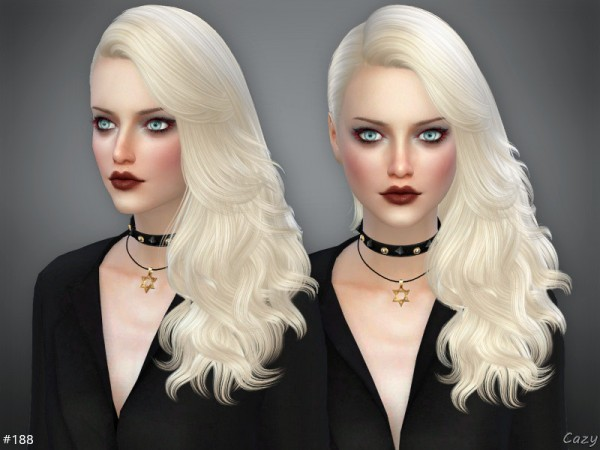 The Sims Resource: 188 Hair by Cazy for Sims 4