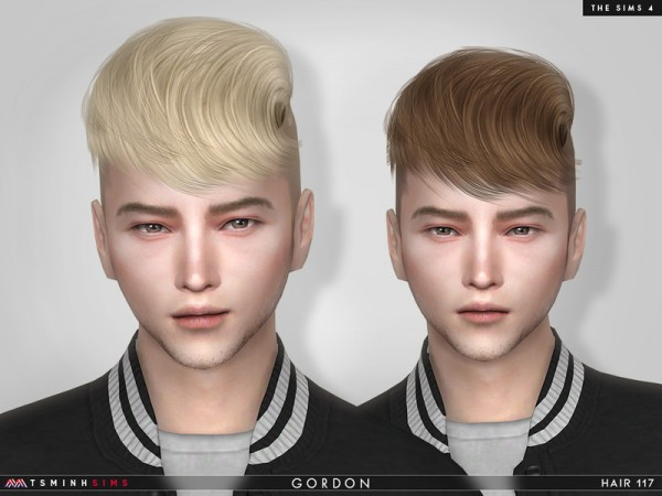 The Sims Resource: Gordon Hair 117 by TsminhSims for Sims 4