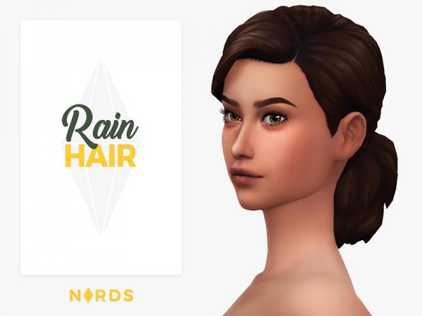 The Sims Resource: Rain Hair by Nords for Sims 4