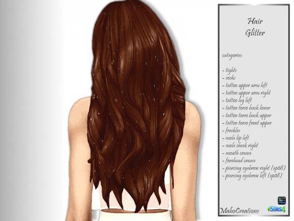 The Sims Resource: Hair Glitter by MahoCreations for Sims 4
