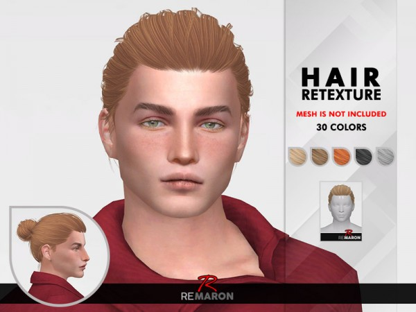 The Sims Resource: Blackout Hair Retextured by remaron for Sims 4