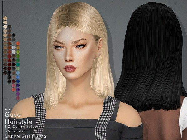 The Sims Resource: Gaye Hair by DarkNighTt for Sims 4