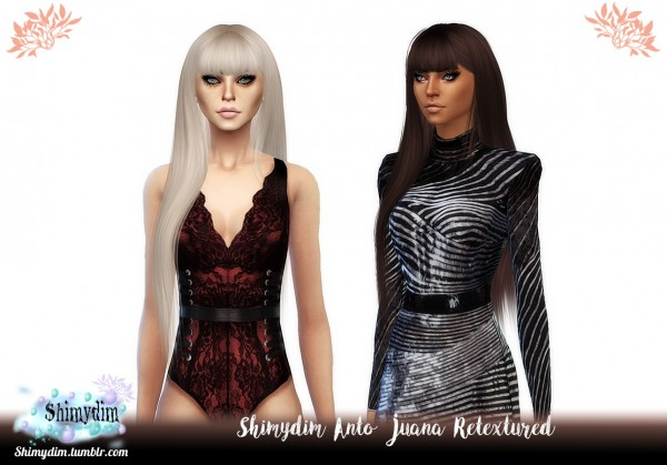 The Sims Resource: Anto`s Juana Hair Retextured for Sims 4