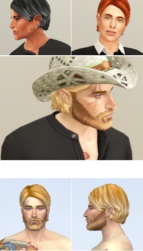 Rusty Nail: Shaggy Cutting M Hair V2 for Sims 4