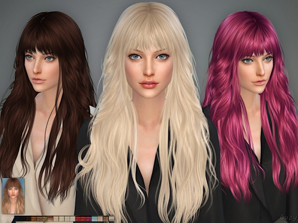 The Sims Resource: Hair 208 by Cazy for Sims 4