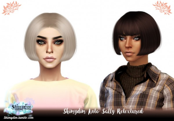 Shimydim: Anto`s Sally Hair Retextured for Sims 4