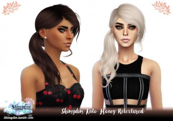 Shimydim: Anto`s Honey Hair Retextured for Sims 4