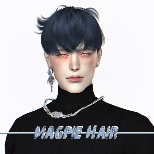 Lemon: Magpie Hair for Sims 4