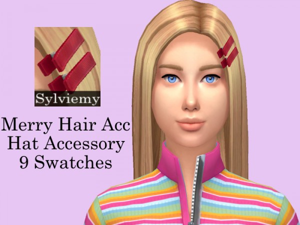The Sims Resource: Merry Hair Set by Sylviemy for Sims 4
