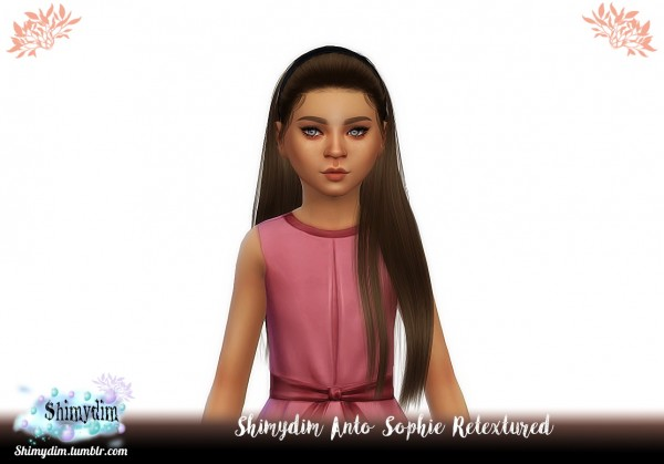 Shimydim: Anto`s Sophie Hair Retextured for Sims 4