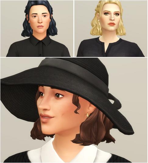 Rusty Nail: Half Up Braid Hair retextured for Sims 4
