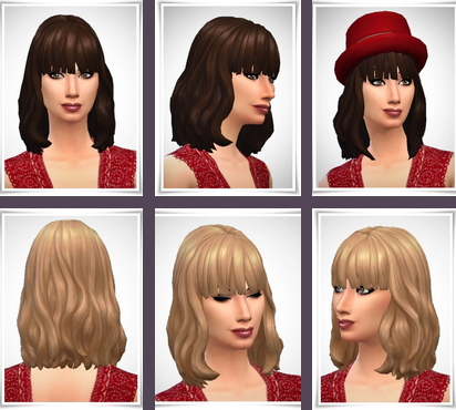 Birksches sims blog: Kasey Hair for Sims 4