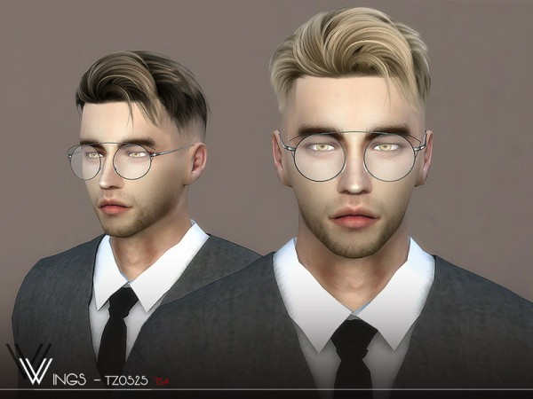 The Sims Resource: WINGS TZ0525 Hair for Sims 4
