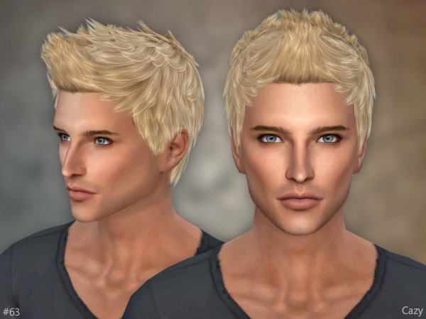 The Sims Resource: 63   Male Hair by Cazy for Sims 4