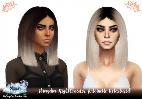 The Sims Resource: NightCrawler`s Antoinette Hair Retextured for Sims 4