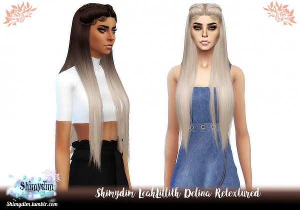 Shimydim: LeahLillith`s Delina hair retextured for Sims 4