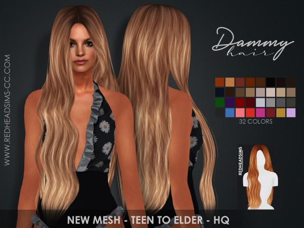 Coupure Electrique: Dammy hair for Sims 4