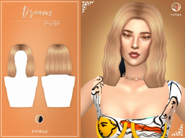 The Sims Resource: Dreams Hair by EnriqueS4 for Sims 4