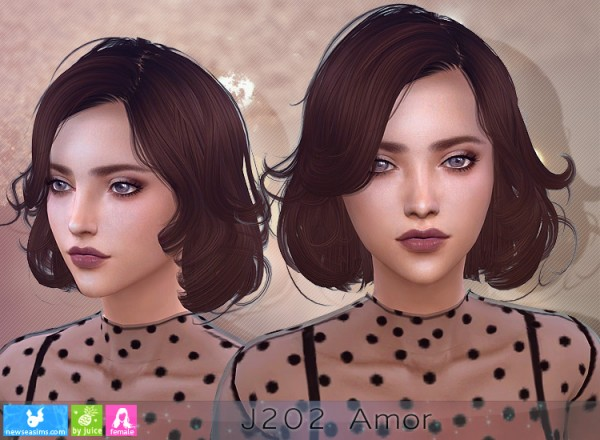 NewSea: J202 Amour Hair for Sims 4