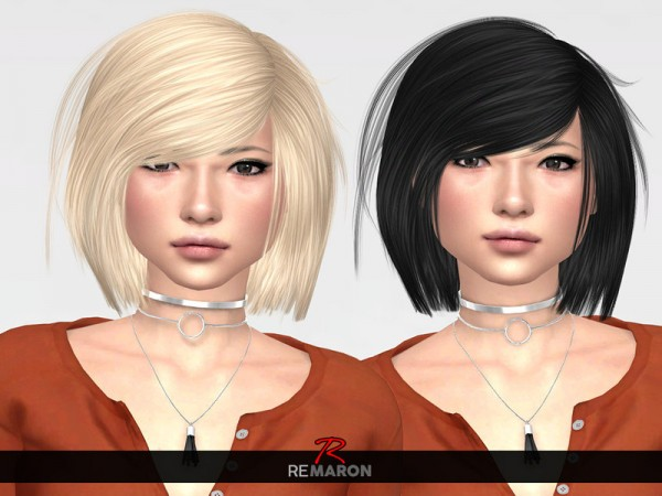 The Sims Resource: Katuma Hair Retextured by remaron for Sims 4