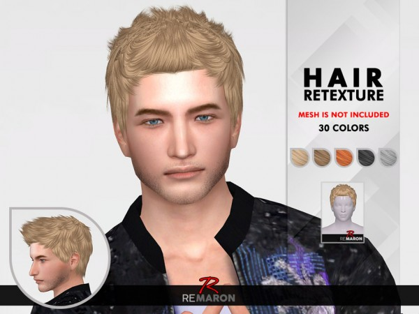 The Sims Resource: Cazy`s 63 Hair Retextured by remaron for Sims 4