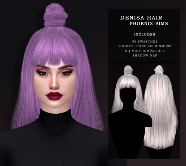 Phoenix Sims: Venus Hair for Sims 4