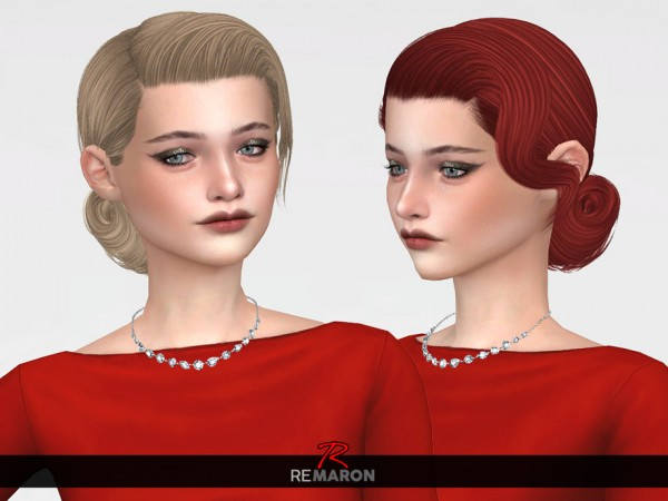 The Sims Resource: Juliette Hair Retextured by remaron for Sims 4