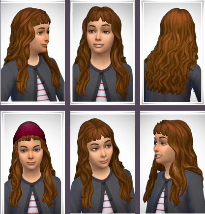 Birksches sims blog: Mona Kids Hair for Sims 4