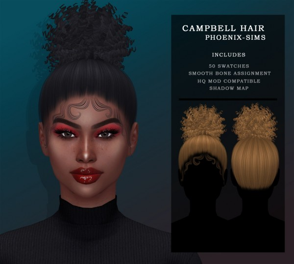 Phoenix Sims: Nikita Hair and Campbell Hair for Sims 4