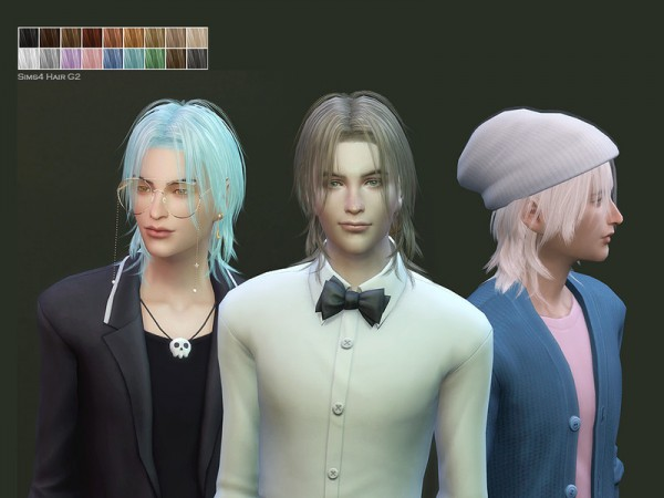 The Sims Resource: Male Hair G2 by Daisy Sims for Sims 4