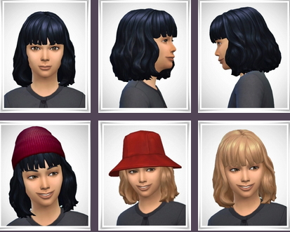 Birksches sims blog: Kasey Kids Hair for Sims 4