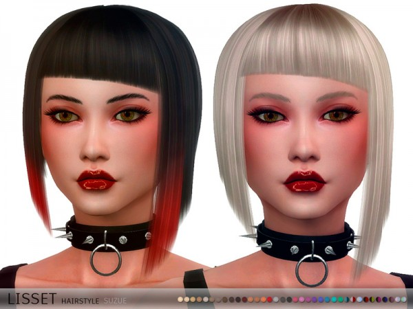 The Sims Resource: Lisset Hair by Suzue for Sims 4