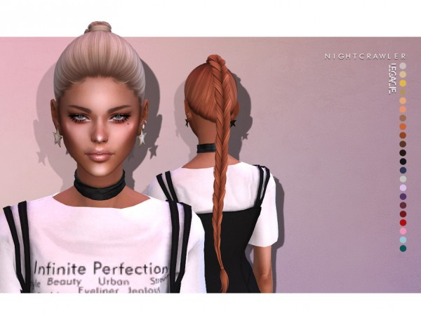 The Sims Resource: Legacy Hair by Nightcrawler for Sims 4