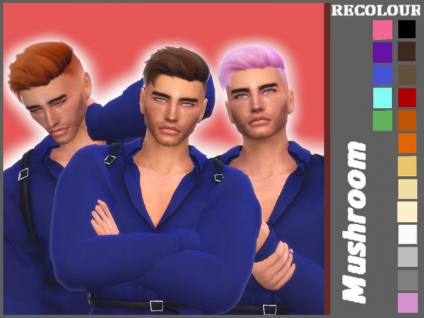The Sims Resource: WINGS ON1111 F Hair Recolored by mushroomsims for Sims 4