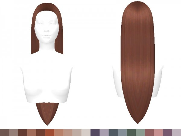 The Sims Resource: Sasha Hair Recolored by Sylviemy for Sims 4