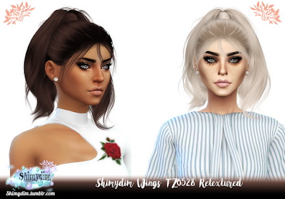 Shimydim: Wings TZ0528 Hair Retextured for Sims 4