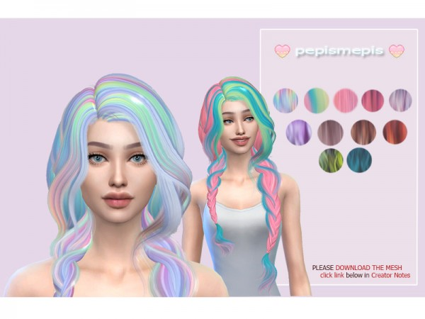 The Sims Resource: Mepis Hair 01 Retextured by pepismepis for Sims 4