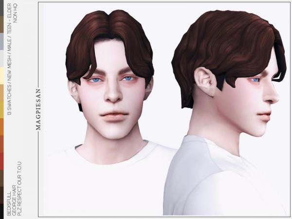 The Sims Resource: George hair by magpiesan for Sims 4