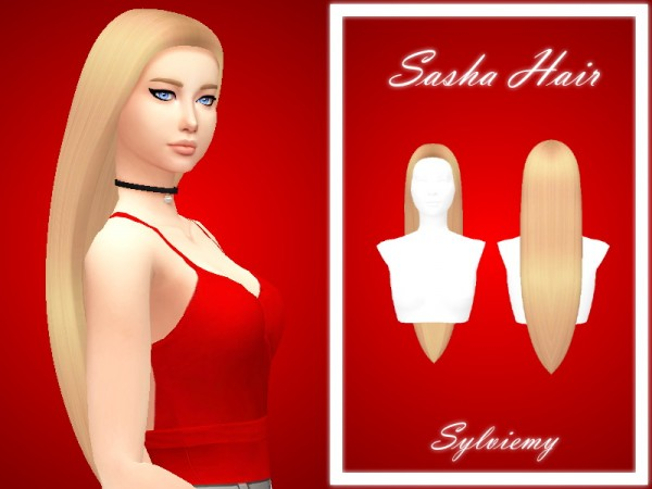 The Sims Resource: Sasha Hair by Sylviemy for Sims 4