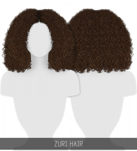 Simpliciaty: Zuri Hair for Sims 4