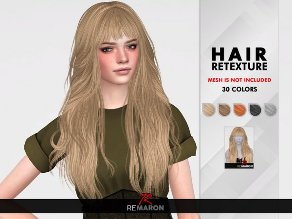 The Sims Resource: Cazy`s 208 Hair Retextured by remaron for Sims 4
