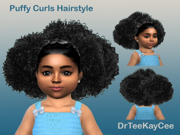 The Sims Resource: Puffy Curls Afro   Toddler by drteekaycee for Sims 4